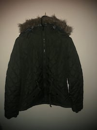 black zip-up parka jacket Washington, 20024