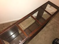Wood & Glass Tri-Level Sofa table. The perfect addition to any home! Charlotte, 28209