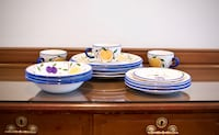 Hand Painted Plates 14-Pieces Toronto