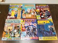 "Vintage ""Cracked"" comic books - 6 in total"