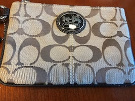 Coach Signature Logo Wristlet (never been used)