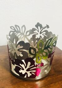 Sonoma Candles Hawaiian Flower Candle Holder  Cypress, 90630