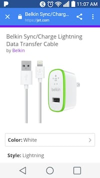 belkin sync charge lightning data transfer cable Winchester, 40391