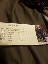Bristol food city xfinity race ticket