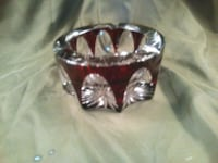 Antique cut crystal red ashtray Toronto, M4Y 2L1