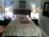 Queen size bed with mattress/ box spring.  North Richland Hills