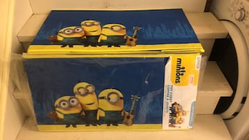 New Minion toy boxes $20 each firm. Toy chest. 16x30x14.5.