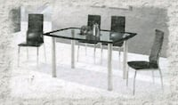 5pc Glass Dining Set Silver Spring, 20906