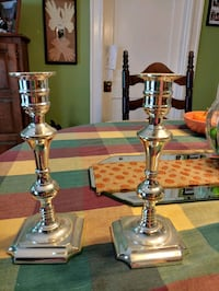Solid silver candle sticks Methuen
