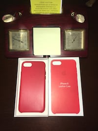 Oem iPhone 8 Leather Case Cover Red Falls Church, 22042