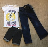 Girls shirt shorts and jeans size 6 Tucson, 85750