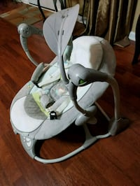 baby's white and gray cradle n swing Raleigh, 27603