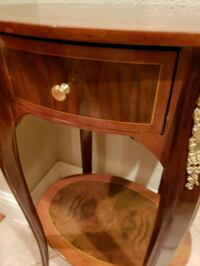brown wooden framed glass cabinet Fort Worth, 76112