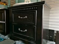 black wooden 2-drawer nightstand Edmonton, T6C