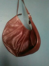 women's brown leather shoulder bag Miracle Mile