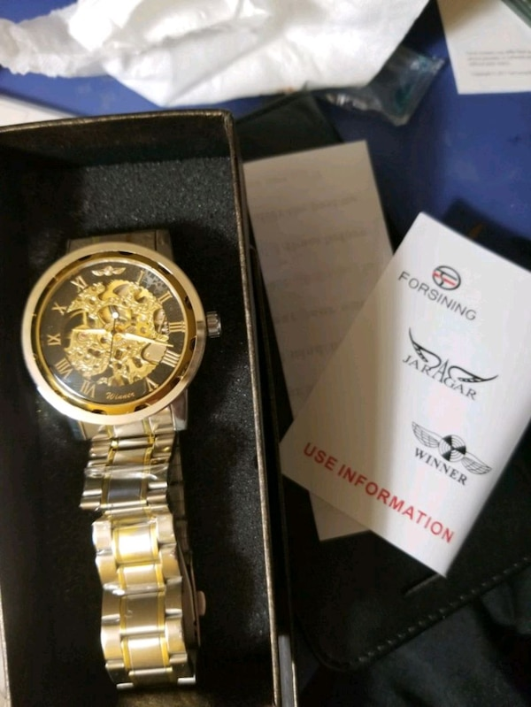 Skeleton watch brand new never worn original $1200 3a56ba0f-ff0d-412f-9146-1199e0cf62be