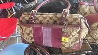 Brown and purple coach monogram tote bag Clarksville