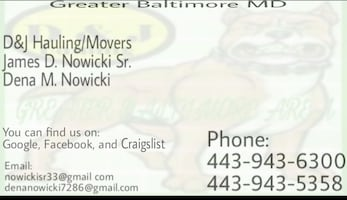 Greater Baltimore MD business card