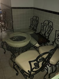 Stone/Glass Table With 7 Chairs New York, 11377