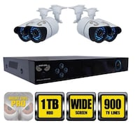 Night Owl Security System with 1TB HDD and (4) Hi-Resolution Cameras