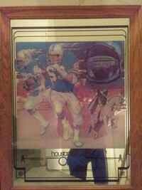 Wooden framed houston oilers picture Edmonton