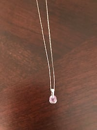 White gold necklace with amethyst stone Laval, H7M