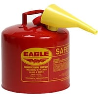 NEW - Eagle UI-50-FS Red Galvanized Steel Type I Gasoline Safety Can  Alexandria
