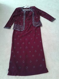Gown/Dress  (long) with removable jacket Burnaby