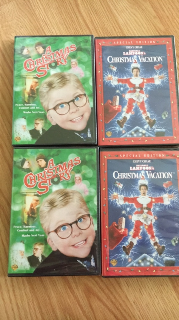 Used four A Christmas Story and Christmas Vacation dvd for sale in Santa Clarita - letgo