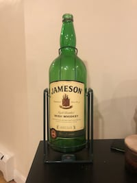 Swinging Jameson Stand with bottle.