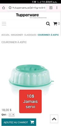 green and white plastic container Lévis, G6V 4R1