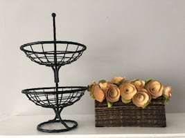 Basket and decorative piece