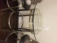 Decorative glass table and chairs TORONTO