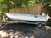 14ft Hydra Glass fiberglass boat with 15hp Evinrude motor/ trailer Silver Spring, 20906