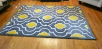 blue and white quatrefoil area rug Burke