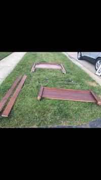 Purple and brown wooden bench Gurnee