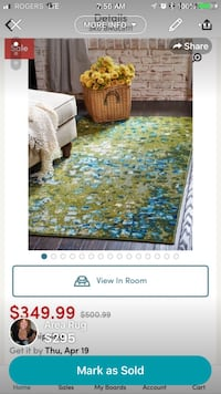 New Blue and green floral area rug Toronto, M4K 3M7