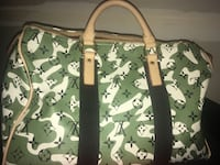 green and brown camouflage leather tote bag Washington, 20024
