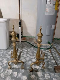 Fireplace Brass and Cast Anchirons Winchester, 22601