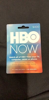 HBO Now  Card Los Angeles, 90034