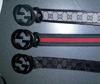 three Gucci belts