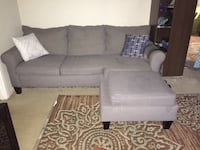 gray suede sectional sofa with throw pillows Alexandria, 22309
