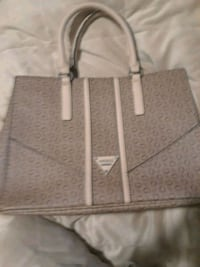 two gray and white leather tote bags Gibsonton, 33534