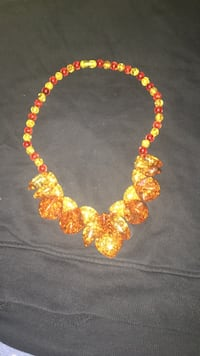 Orange and reddish brown necklace Frederick, 21702