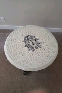 round coffee table with glass topper  Edmonton, T5J 4B5