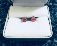 Pink Studs Sterling Silver  Cypress, 90630