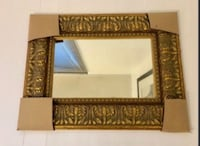 Antique Gold Wood Framed Mirror - 19.5 by 15 inches Toronto, M2J 1Z1