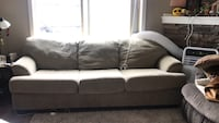 Tan fabric 3-seat sofa Nanaimo, V9S 2N2