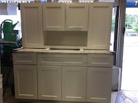 white wooden hutch cabinet Jersey City, 07304