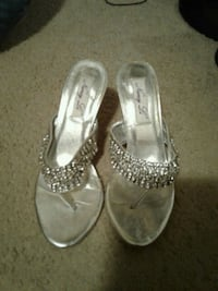Silver being high heels $10 size 6,5